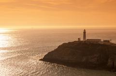 South Stack Lighthouse, Holy Island, Anglesey, Gwynedd, Wales, United Kingdom - stock photo