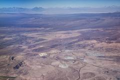 Aerial view of mine in Atacama desert in northern Chile, South America Stock Photos