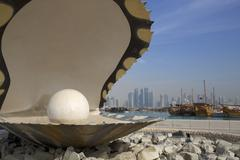 The Pearl Monument, The Corniche, Doha, Qatar, Middle East Kuvituskuvat
