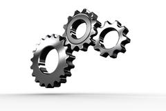 Stock Illustration of Metal cogs and wheels connecting