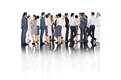 Stock Photo of Composite image of many business people standing in a line
