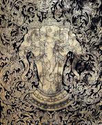 thai gold leaf art - stock photo