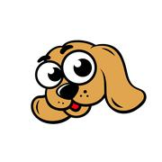 dog face sign - stock illustration