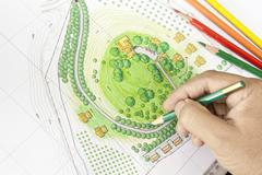 Paint the landscape design plan Kuvituskuvat