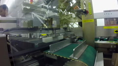 Large automated card making machine assembly line Stock Footage