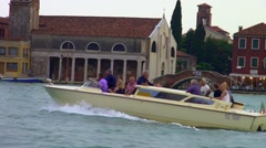 Water taxi in venice Stock Footage