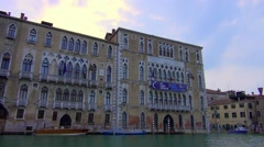 Venice buildings on the canal Stock Footage