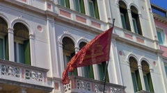 View of venetian flag Stock Footage