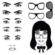 Eye woman Stock Illustration