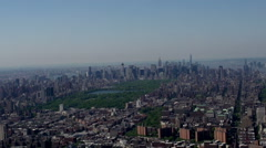 Flying above Manhattan, New York City, USA Stock Footage