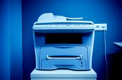 office printer multi-functional device - stock photo