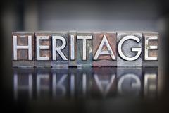 Heritage letterpress Stock Photos