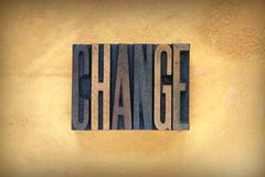 change letterpress - stock photo