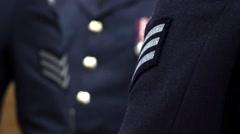RAF - Military Uniform  Stock Footage