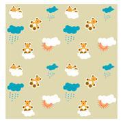 baby pattern - stock illustration