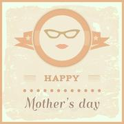 mothers day - stock illustration