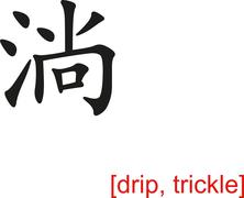 Stock Illustration of Chinese Sign for drip, trickle