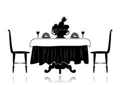 Restaurant little table Stock Illustration
