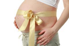 Big belly pregnant woman Stock Photos
