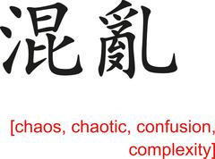 Chinese Sign for chaos, chaotic, confusion, complexity - stock illustration
