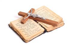 Old holy bible Stock Photos