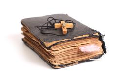 old holy bible - stock photo