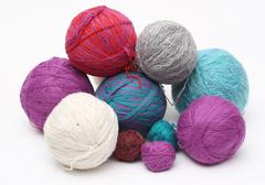 yarn clews - stock photo
