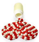 capsules heart - stock photo