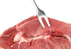 raw red meat - stock photo