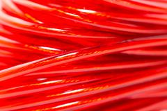 Stock Photo of red wire as a backdrop. macro