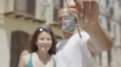 Key to a new home! - stock footage