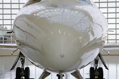 Commercial jet nose Stock Photos