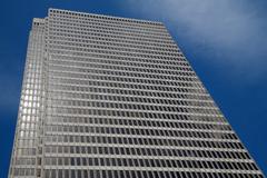Skyscraper blue sky Stock Photos