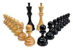 Chessmen, extra DoF - stock photo