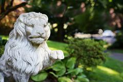 gaurdian lion - stock photo