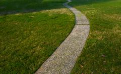 curvy concrete path - stock photo