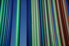verticle multi-color pipes landscape - stock photo