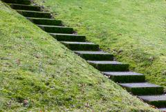 Diagonal concrete steps Stock Photos