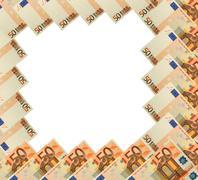 Abstrakti runko 50 euroa setelin valkoinen Kuvituskuvat
