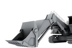 Stock Photo of Grey model of the digger
