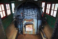 Locomotive steam engine boiler Stock Photos