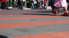 Feet of people walking. City rush. St. Petersburg. Russia Stock Footage
