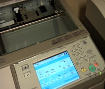 Making copies on office copier - stock footage