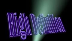 High Definition Explosion 3D Text Animation Stock Footage