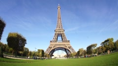 Magnificent Eiffel Tower, Paris France Landscape Shot Stock Footage