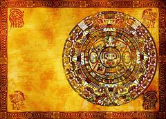 Maya calendar Stock Photos