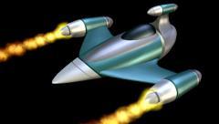 Jet Firing 3D Animation Stock Footage