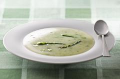 Asparagus soup - stock photo
