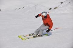 Stock Photo of skiing at winter season