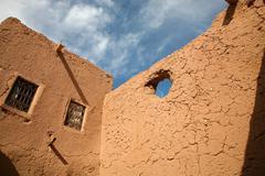 Kasbah in ouarzazate - stock photo